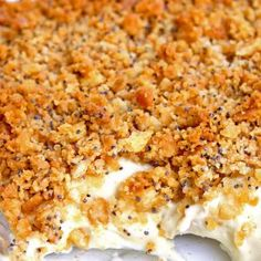 Ritz Cracker Chicken- Beverly makes this the best- but she calls it poppy seed chicken and its delish! Think Food, I Love Food, Food For Thought, Good Food, Poppy Seed Chicken Casserole, Ritz Chicken Casserole, Poppyseed Chicken Recipe, Italian Casserole, Food Dinners