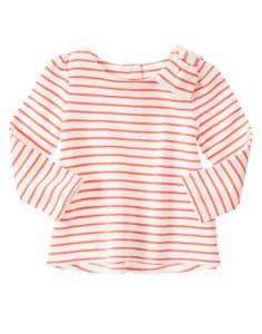 Striped Bow Top at Gymboree - Could be cute for casual. With Jeggings? Cute Outfits For Kids, Cute Kids, Cute Babies, Bow Tops, Cute Baby Clothes, Pink Stripes, Gymboree, Looking For Women, Toddler Girl
