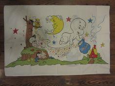 Vintage Casper The Friendly Ghost Pillowcase, Casper Pillowcase, Vintage…
