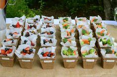 Ideias para servir frutas
