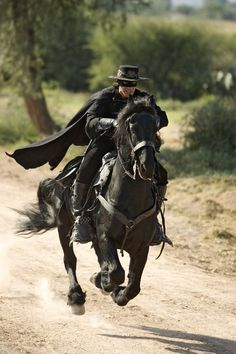 The most famous masked man, Zorro, as brought to life by Antonio Banderas in 2005's The Legend of Zorro.
