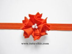 Orange Headband: baby headbands, newborn headband, infant headband, toddler headband, childrens headband