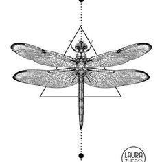 67 New Ideas tattoo geometric chest tatuajes Dragonfly Drawing, Dragonfly Tattoo Design, Dragonfly Art, Dragon Tattoo Designs, Dragonfly Illustration, Tatuagem Art Nouveau, Trendy Tattoos, Tattoos For Guys, Petit Tattoo