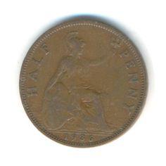 Vintage Coin George V Half Penny 1936 Code: by JMCVintagecards