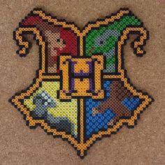 Hogwarts crest - Harry Potter perler beads by halemark.handcrafts