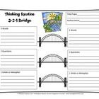 Graphic Organizer for Thinking Routines by Harvard Project Zero. Students will examine a piece of text or art by list 3 words, 2 questions, and 1 s...