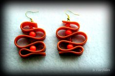 Orange Rubber Caoutchouc Earrings by jvFairytales on Etsy Orange, Trending Outfits, Unique Jewelry, Handmade Gifts, Earrings, Etsy, Vintage, Natural Rubber, Kid Craft Gifts