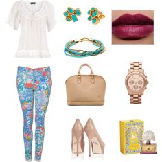 Spring Bouquet..., created by threadinducedeuphoria on Polyvore