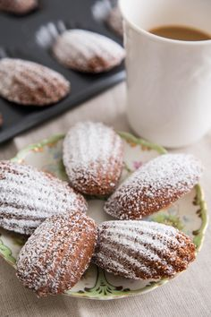 Madeleines are my favorite cookie. I love their delicate flavor and distinctive shape and texture — they taste more like a mini sponge cake than a cookie. When I was a kid, my mom would take me to a coffeeshop a few blocks from our house. She'd get her latte and I'd get hot chocolate and a madeleine pulled from the old-fashioned lidded candy jar that sat on the counter.