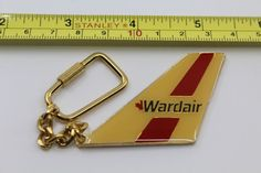 Wardair Canada Airlines Airplane Yellow Keychain #Wardair