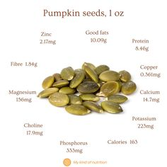 Nuts and seeds are very healthy, despite their calories. Eat a handful of nuts and seeds for a nutritious, satiating snack that won't spike your blood sugar levels. Eat unsalted, raw or lightly roasted nuts for best results. #Pumpkin seeds #pumpkin seeds nutrition #nutsandseeds #healthysnack #superfood #lowcalorie #seeds #good fats #healthy fat #plantbasedprotein #plantbased Roasted Nuts, Plant Based Protein, Blood Sugar, Superfood, Healthy Snacks, Healthy Living, Seeds, Fat, Pumpkin