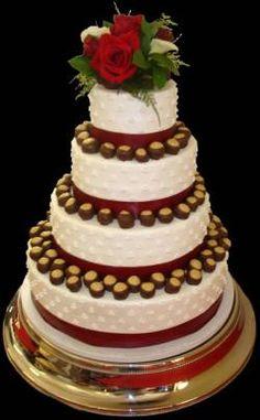 Ohio State wedding cake
