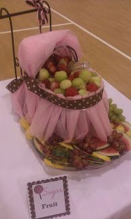 Sugar and Spice Baby Shower @Belinda Lester ...I really like this idea instead of it being carved out of fruit...