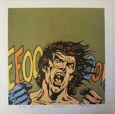 """Lithography """"kongen"""". 28x28 cm. Artist: Ronny Bank. Want it? Go to http://artbyhand.no/produkt/billedkunst/kongen"""
