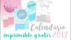 Descarga gratis tu calendario para 2017! #freebies #imprimible #printable #craft #calendario #2017