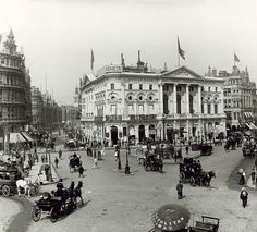 London Pavilion, Piccadilly Circus, London, c 1900 Victorian London, Vintage London, Old London, Victorian History, Victorian Era, London History, British History, Local History, Family History