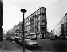The corner of Tucholsky Strasse/August Strasse in Berlin Mitte, 1991. The store has gone out of business.