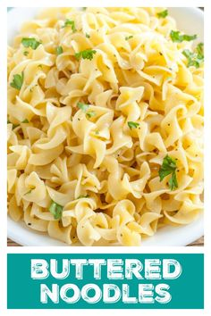 Buttered Noodles Buttered Noodles This side dish is one that pairs well with everything. Side Dishes For Chicken, Pasta Side Dishes, Pasta Sides, Side Dishes Easy, Side Dish Recipes, Food Dishes, Food Food, Egg Noodle Side Dish, Egg Noodle Dishes