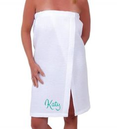 1275657f4a Personalized Waffle Spa Wrap with Name Honeymoon Outfits