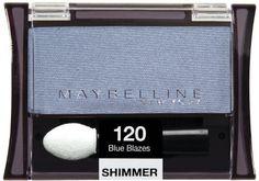 Maybelline New York Expert Wear Eyeshadow Singles, 120 Blue Blazes Shimmer, 0.09 Ounce (Pack of 2). Maybelline New York Expert Wear Eyeshadow Singles, 120 Blue Blazes Shimmer, 0.09 Ounce (Pack of 2).