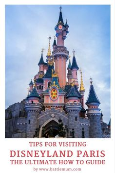 The ultimate guide to visiting Disneyland Paris. A complete guide to visiting Disneyland Paris with useful hints and tips to getting the most from your visit, especially with kids. Disney Vacations, Disney Trips, Disney Parks, Disney Land, Disney Travel, Disneyland Paris Castle, Disneyland Tips, Disneyland California, Paris Travel Tips