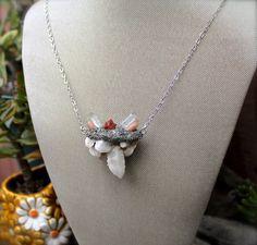 Fairy Quartz Necklace  Crystal Quartz by MermaidTearsDesigns