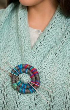 Snake Shawl Pin Free Craft Pattern from Red Heart Yarns
