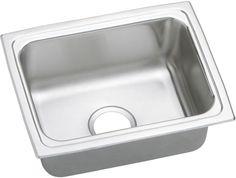 "Lustertone 25"" x 19.5"" Gourmet Single Bowl Kitchen Sink"