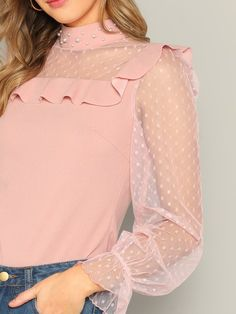 Crop Top Designs, Blouse Designs, Skirt Fashion, Fashion Dresses, Formal Tops, Dresses Kids Girl, Mesh Panel, Business Outfits, Trendy Tops