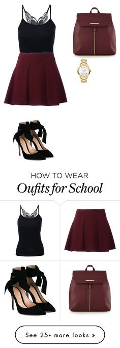 """School"" by mjisaliveinour2 on Polyvore featuring Gianvito Rossi, Red Herring and Movado"
