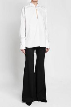 ROSETTA GETTY - Slit Front Cotton Shirt   STYLEBOP Rosetta Getty, White Style, Normcore, Cotton, Shirts, Shopping, Women, Fashion, Clothing