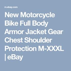 New Motorcycle Bike Full Body Armor Jacket Gear Chest Shoulder Protection M-XXXL  | eBay