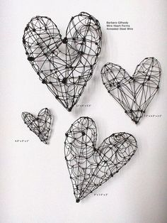 I find these wire hearts amazing, they look great to look at it, maybe something to hang on the wall for a design or something.
