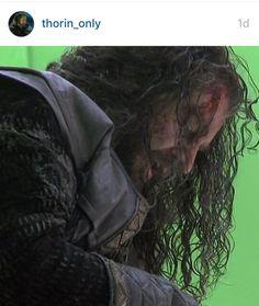 BOTFA EE, Thorin lets his hair hang down, bts