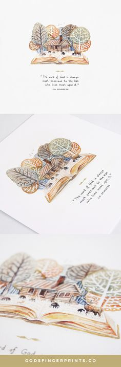 Yes! Gotta live on God's word daily. Such a creative take on C.H. Spurgeon's quote. A great art print gift idea.