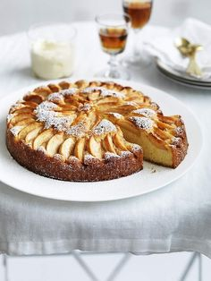 Italian Apple Cake with Grand Marnier Mascarpone