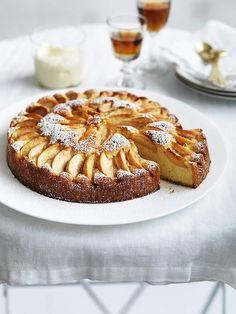 Italian apple cake with Grand Marnier mascarpone