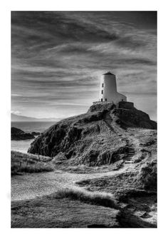 Ansel Adams Photos of Lighthouses | Llanddwyn Island, Anglesey