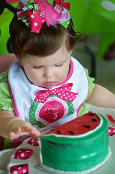 Watermelon Fruit Summer Girl 1st Birthday Party Planning Ideas