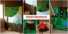 DIY Interactive backdrop for kids