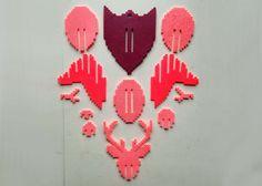 3D Deer Head Perler Bead Puzzle Wall Decor by MIZGVUSdesigns