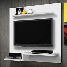 O painel é ideal para ambientes pequenos por ser um móvel compacto e suspenso. Sem falar no charme que garante para a decoração.