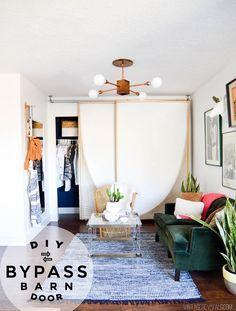DIY Bypass Barn Door Tutorial vintagerevivals.com