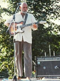 Roy Buchanan. This was taken in Aug 1988 in Guilford, CT. His last public performance before his death. I recognized his guitar before I recognized him without hair. He was one of the greatest guitar players ever & is greatly missed.