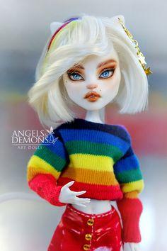 Custom Monster High Dolls, Monster Dolls, Custom Dolls, Pretty Dolls, Beautiful Dolls, Lol Dolls, Barbie Dolls, Human Doll, Gothic Dolls
