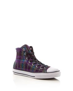 Converse Girls' Chuck Taylor All Star Plaid High Top Sneakers - Toddler, Little Kid, Big Kid
