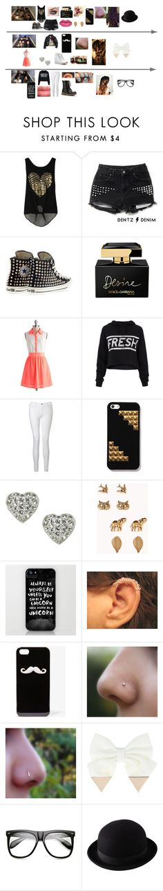 """""""Recording the X Factor video diaries with 1D"""" by littlemix21 ❤ liked on Polyvore featuring Converse, Dolce&Gabbana, Illustrated People, J Brand, Accessorize, Forever 21, adidas, MAC Cosmetics, INDIE HAIR and Uniqlo"""