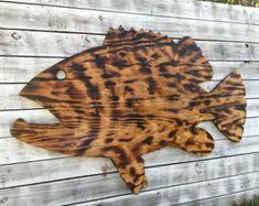 Recorte de madera peces por AgainstTheGrainArts en Etsy