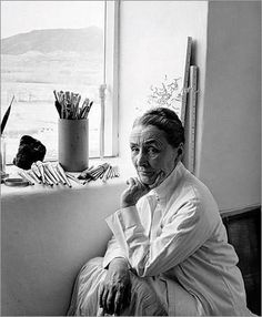 """Photo of Georgia O'Keeffe in New Mexico    """"I've been absolutely terrified every moment of my life - and I've never let it keep me from doing a single thing I wanted to do."""" ~Georgia O'Keeffe"""