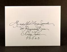 "Calligraphy for Wedding Invitation ""Elegant"" Font Sample. $1.00, via Etsy."